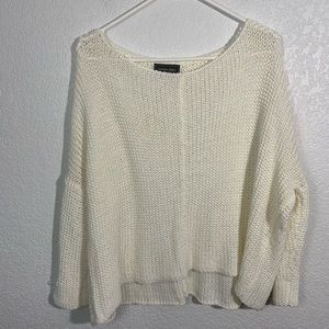 Wooden Ships White Knit Sweater Small/Medium
